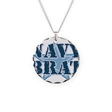 Navy Brat Necklace