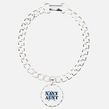 Proud Navy Aunt Charm Bracelet, One Charm