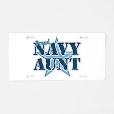 Proud Navy Aunt Aluminum License Plate