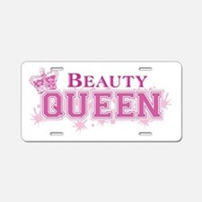 Beauty Queen Aluminum License Plate