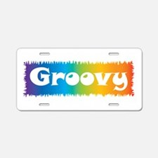 Groovy cl block Aluminum License Plate