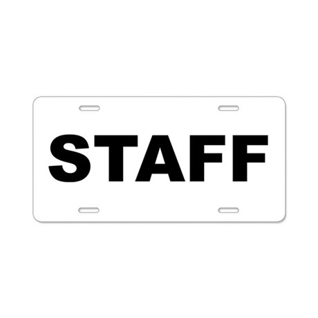 Staff Aluminum License Plate