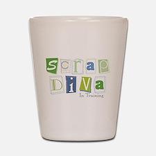 Scrap Diva (IT) Blue Shot Glass