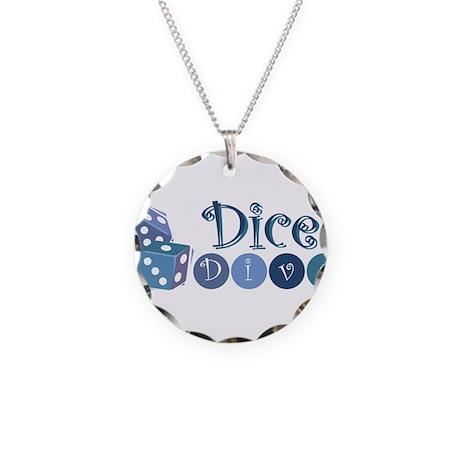 Dice Diva Necklace Circle Charm