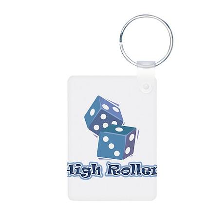 High Roller Aluminum Photo Keychain
