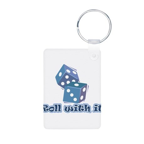 Roll with it Aluminum Photo Keychain