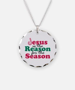 About Jesus Cane Necklace Circle Charm