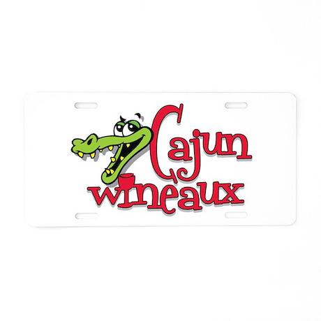 Cajun Wineaux gator Aluminum License Plate
