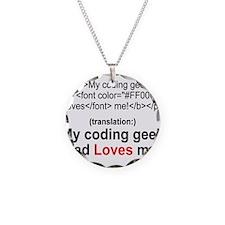 Coding Geek Dad Necklace