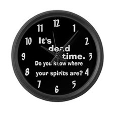 Paranormal Dead Time Large Wall Clock