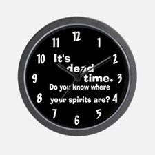 Paranormal Dead Time Wall Clock