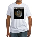 Moon Dragon Fitted T-Shirt