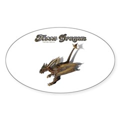 Moon Dragon Oval Decal