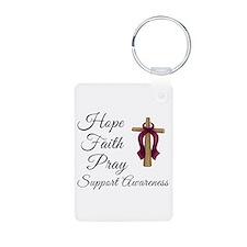 Hope Faith Prayer Aluminum Photo Keychain