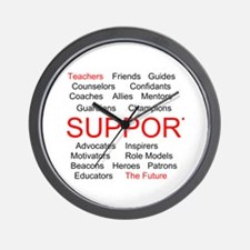 Support Teachers, Support the Future Wall Clock