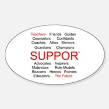 Support Teachers, Support the Future Decal