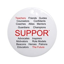 Support Teachers, Support the Future Ornament (Rou