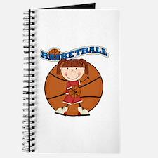 Brunette Girl Basketball Journal