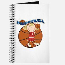 Blond Girl Basketball Journal