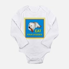 Eat Veggies Long Sleeve Infant Body Suit