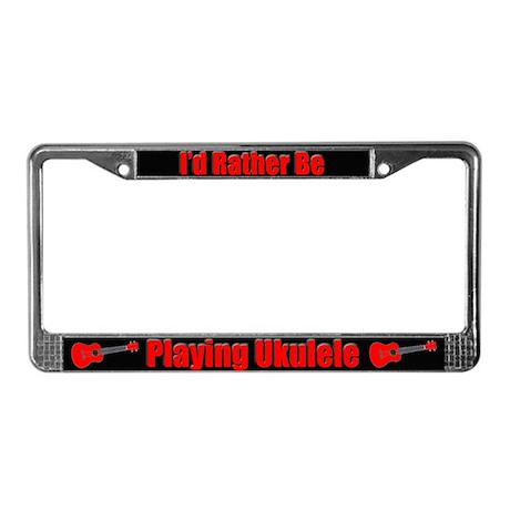 ukulele License Plate Frame