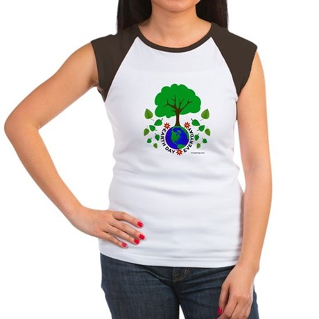 Earth Day Everyday Women's Cap Sleeve T-Shirt