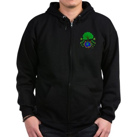 Earth Day Everyday Zip Hoodie (dark)