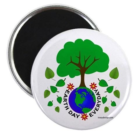 """Earth Day Everyday 2.25"""" Magnet (100 pack)"""