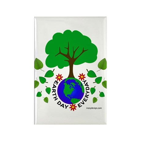 Earth Day Everyday Rectangle Magnet (10 pack)