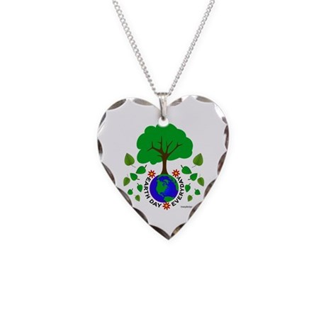 Earth Day Everyday Necklace Heart Charm