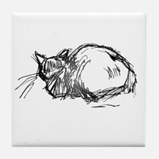 Cats Caught Being Still - Tile Coaster