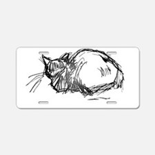 Cats Caught Being Still - Aluminum License Plate
