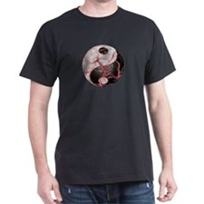 "Yin Yang ""its alive"" Black T-Shirt"