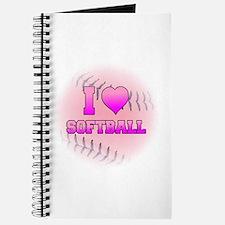 I Love Softball (Pink Softball) Journal