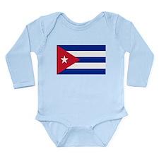 Cuban Flag Long Sleeve Infant Bodysuit