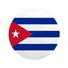 "Cuban Flag 3.5"" Button"