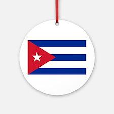 Cuban Flag Ornament (Round)