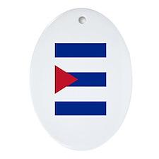 Cuban Flag Ornament (Oval)