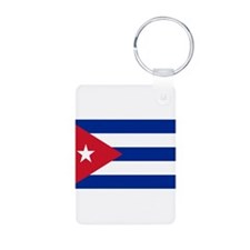 Cuban Flag Aluminum Photo Keychain