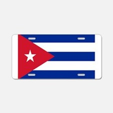 Cuban Flag Aluminum License Plate