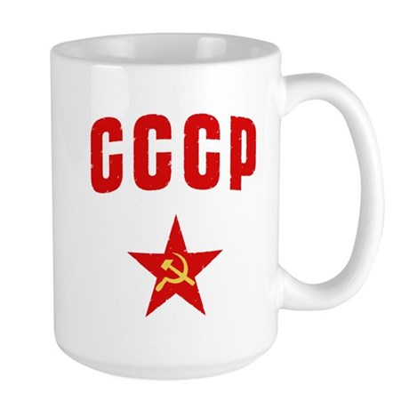 Hammer and Sickle CCCP Star Large Mug