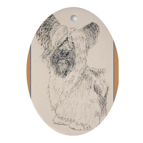 Skye Terrier Ornament (Oval)