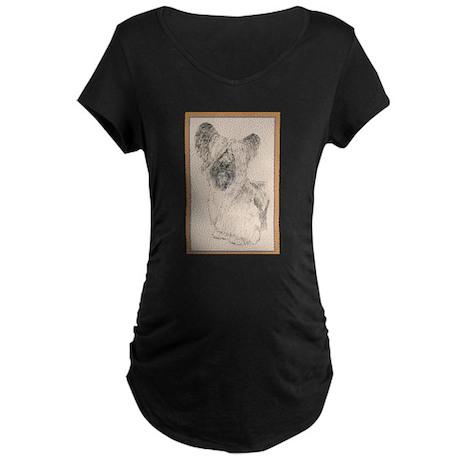 Skye Terrier Maternity Dark T-Shirt