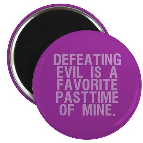 """Defeating Evil"" 2.25"" Magnet (10 pack)"