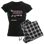 My Hero is Now My Angel Women's Dark Pajamas