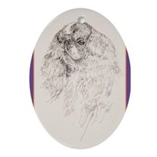 King Charles English Toy Spaniel Ornament (Oval)