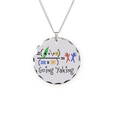 Goin 'Yaking Necklace Circle Charm