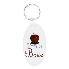 I'm a Bree Aluminum Oval Keychain