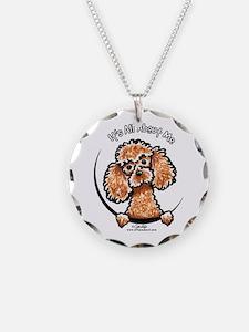 Apricot Poodle IAAM Necklace