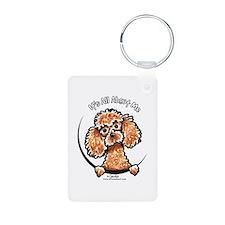 Apricot Poodle IAAM Keychains
